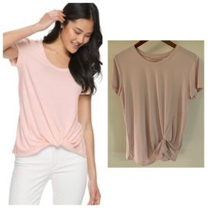 Flirty Philosophy Tee Shirt With Knotted Detailing